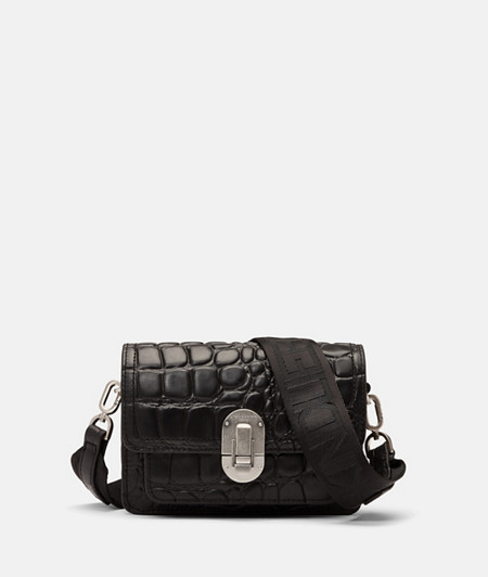 Cross-body bag with crocodile embossing from liebeskind