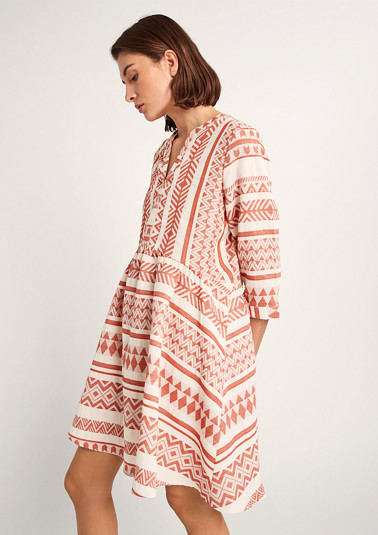 Tribal-style cotton dress from comma