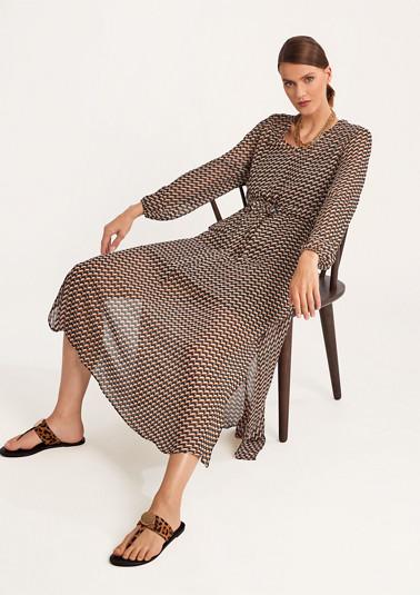 Fine chiffon midi dress from comma
