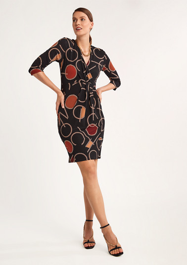 Short dress with all-over pattern from comma