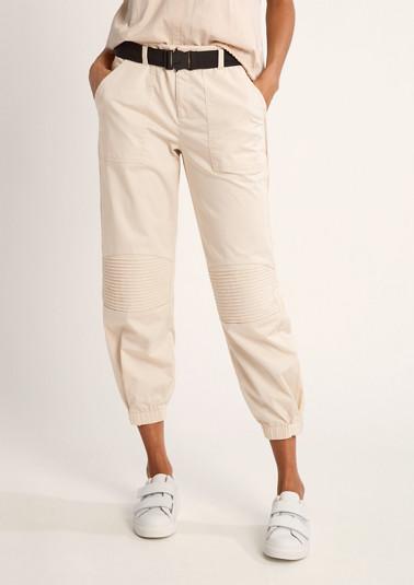 Regular: Hose mit Zierfalten