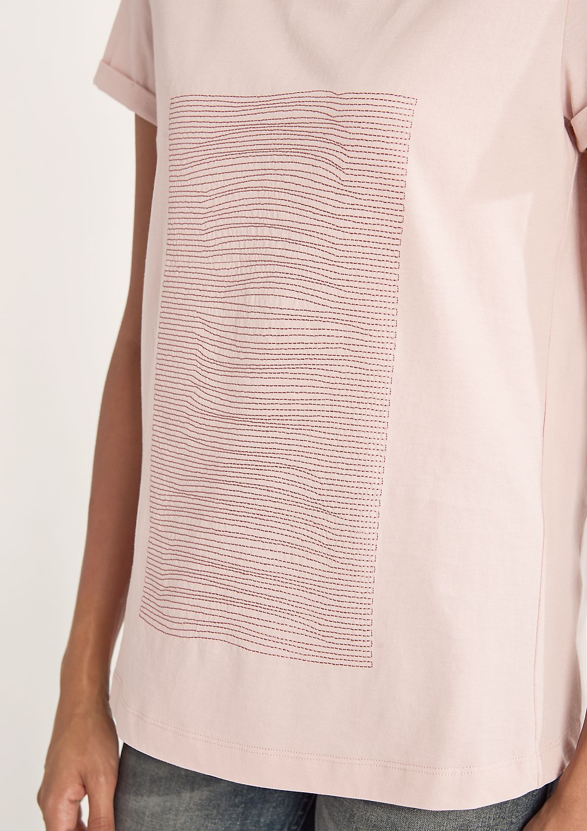 Baumwollshirt mit Stickerei