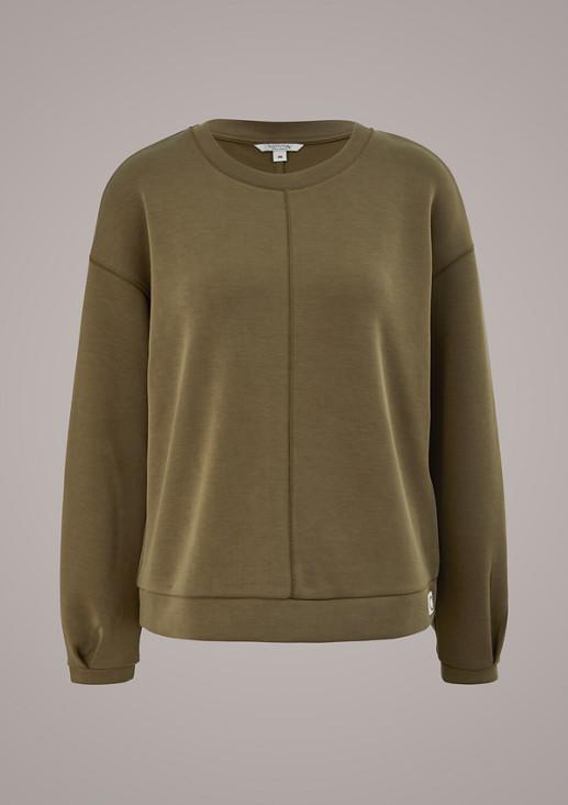 Sweatshirt aus Scuba-Jersey