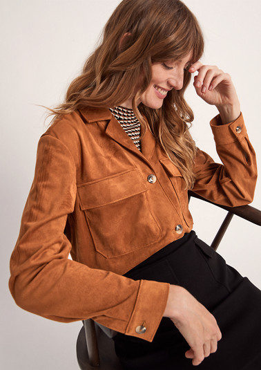Faux suede jacket from comma