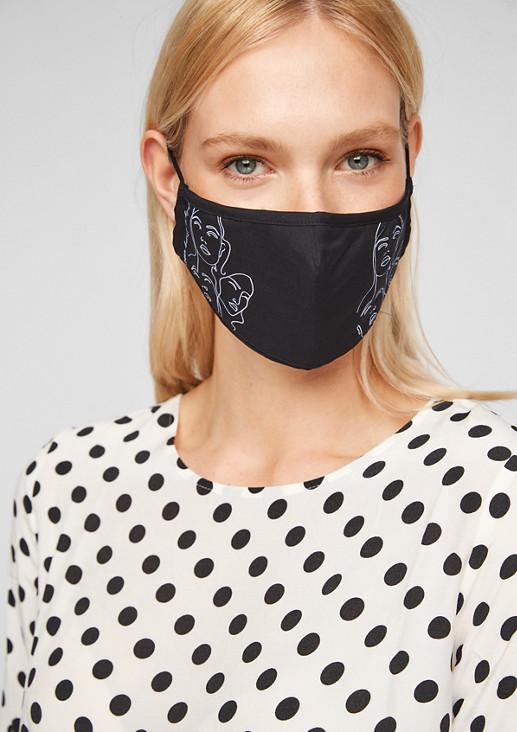 Bedruckte Mund-Nase-Maske