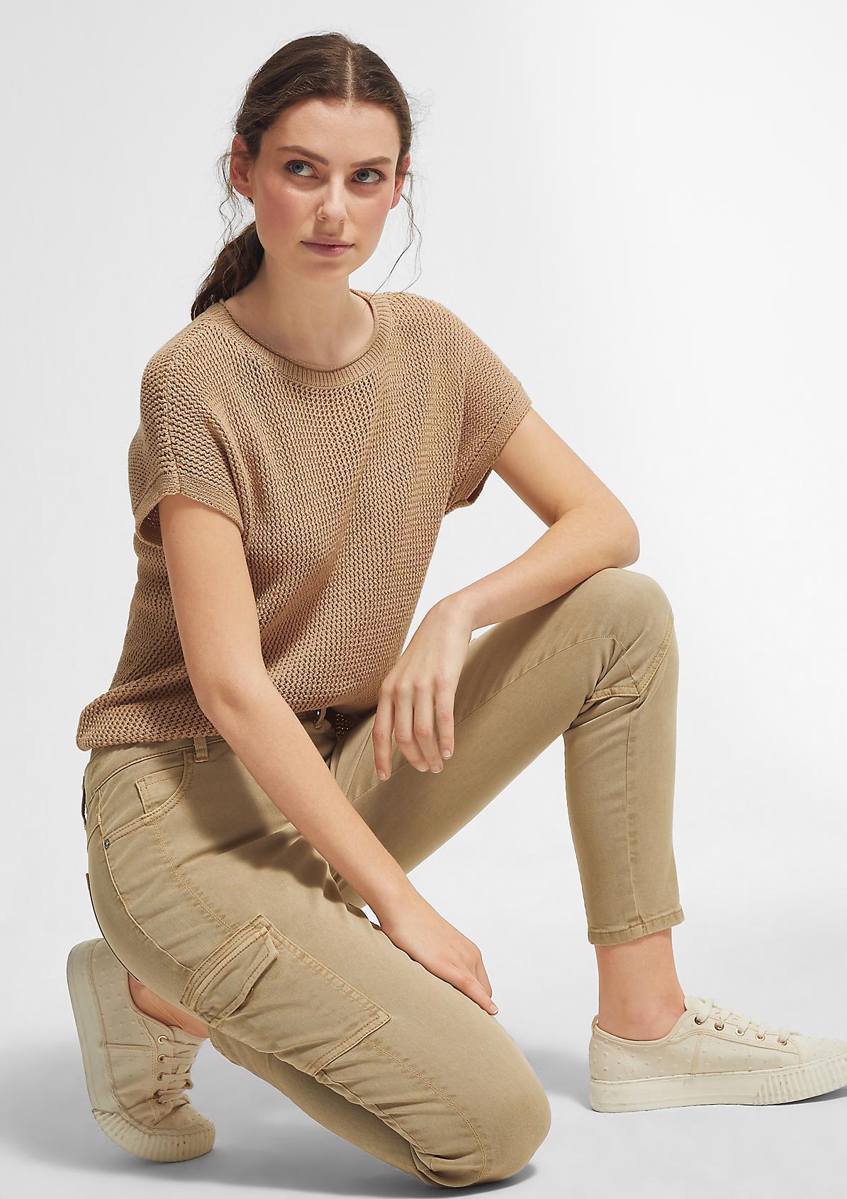 Slim Fit: Slim leg-Hose aus Lyocellmix