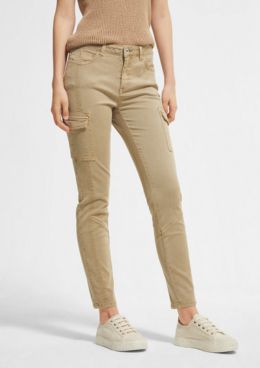 Slim fit: slim leg blended lyocell trousers from comma