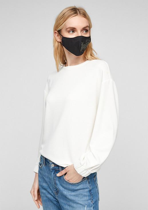 Behelfsmaske mit Strassverzierung