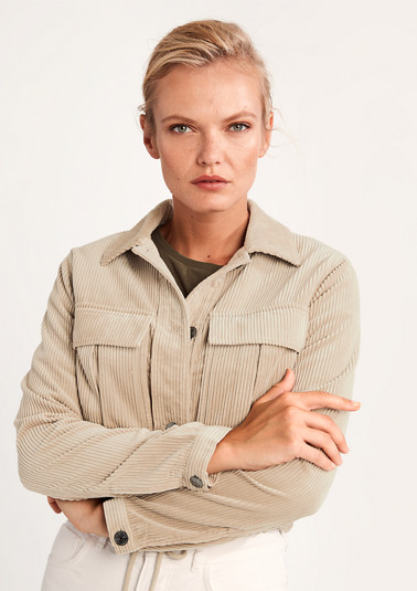 Cropped corduroy jacket from comma