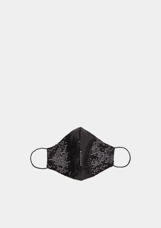 Face mask with sequins from comma