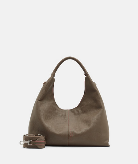 Leather hobo bag in an urban design from liebeskind