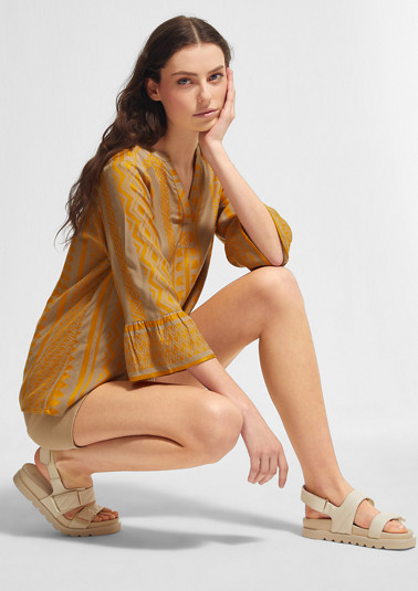 Jacquard patterned blouse from comma
