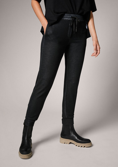 Melange jersey trousers from comma