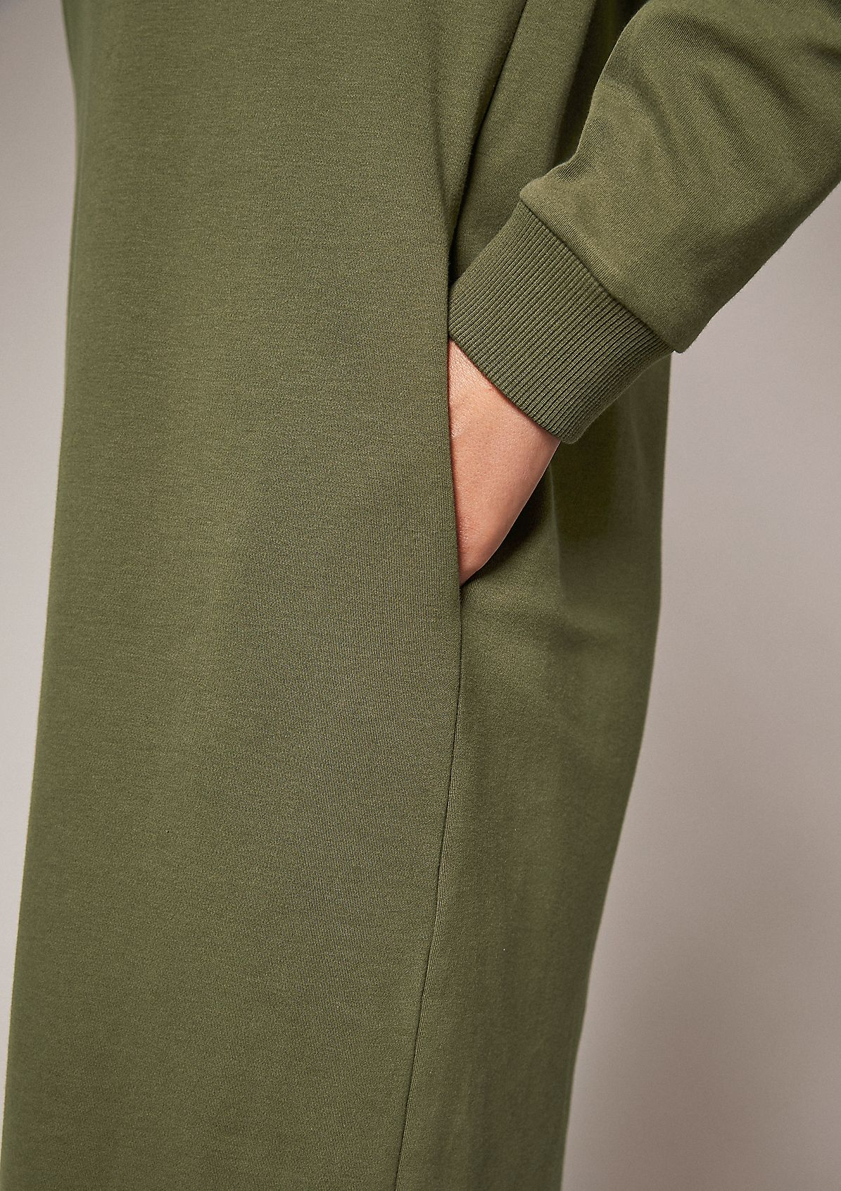 Jerseykleid mit Ripp-Details