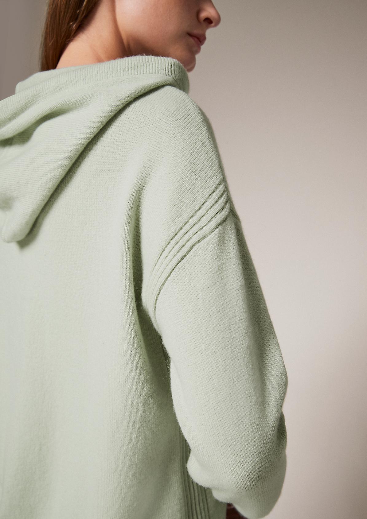 Kapuzenpullover aus Wollmix