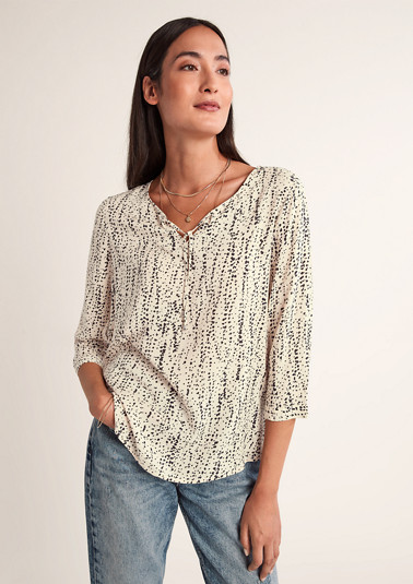 Loose blouse with all-over pattern from comma