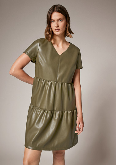 Coated tiered dress from comma