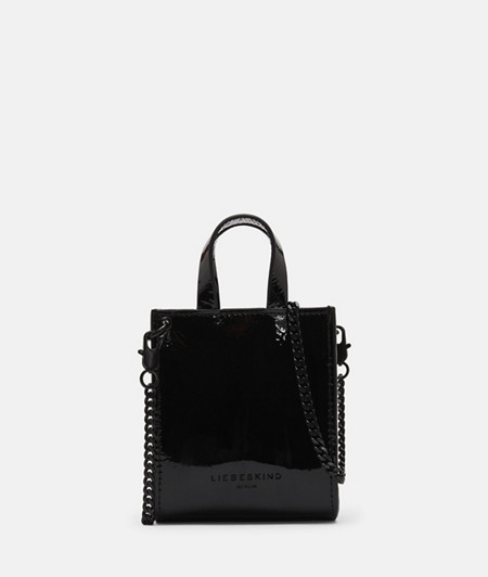 Mini-Bag aus Lackleder