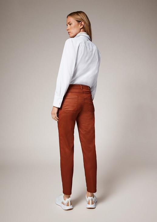 Skinny: Hose im Chintz-Look