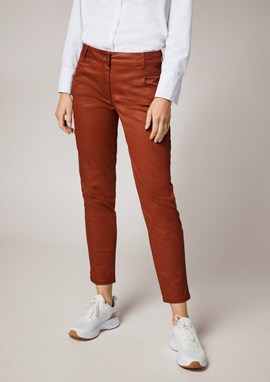 Skinny: trousers in a chintz effect from comma
