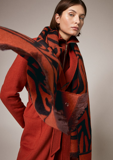 Zebra pattern scarf from comma