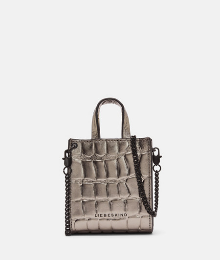 Metallic Mini-Bag aus Leder