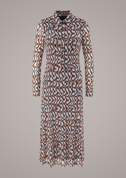 Patterned mesh dress from comma