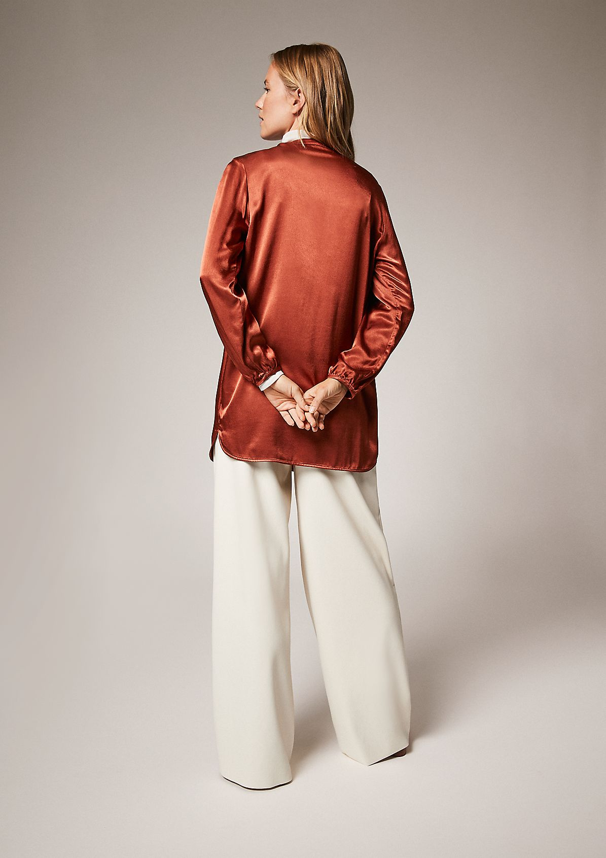 Long viscose blouse from comma