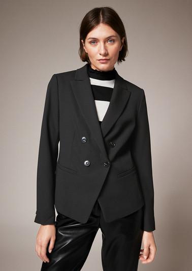 Stretch twill blazer from comma