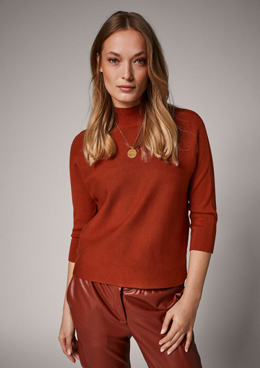 Striped jumper with 3/4-length sleeves from comma