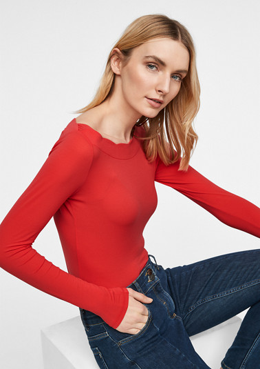 Fine knit jersey top from comma