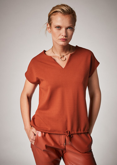 T-shirt with a drawstring detail from comma