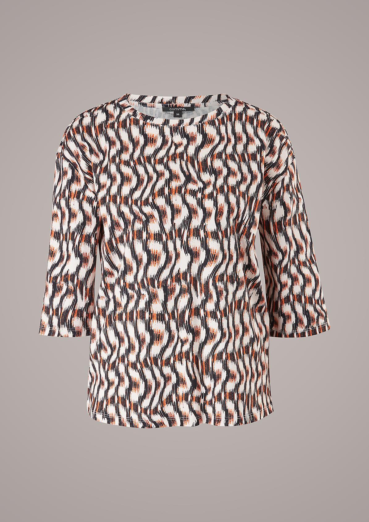 3/4-Arm-Shirt aus Jersey