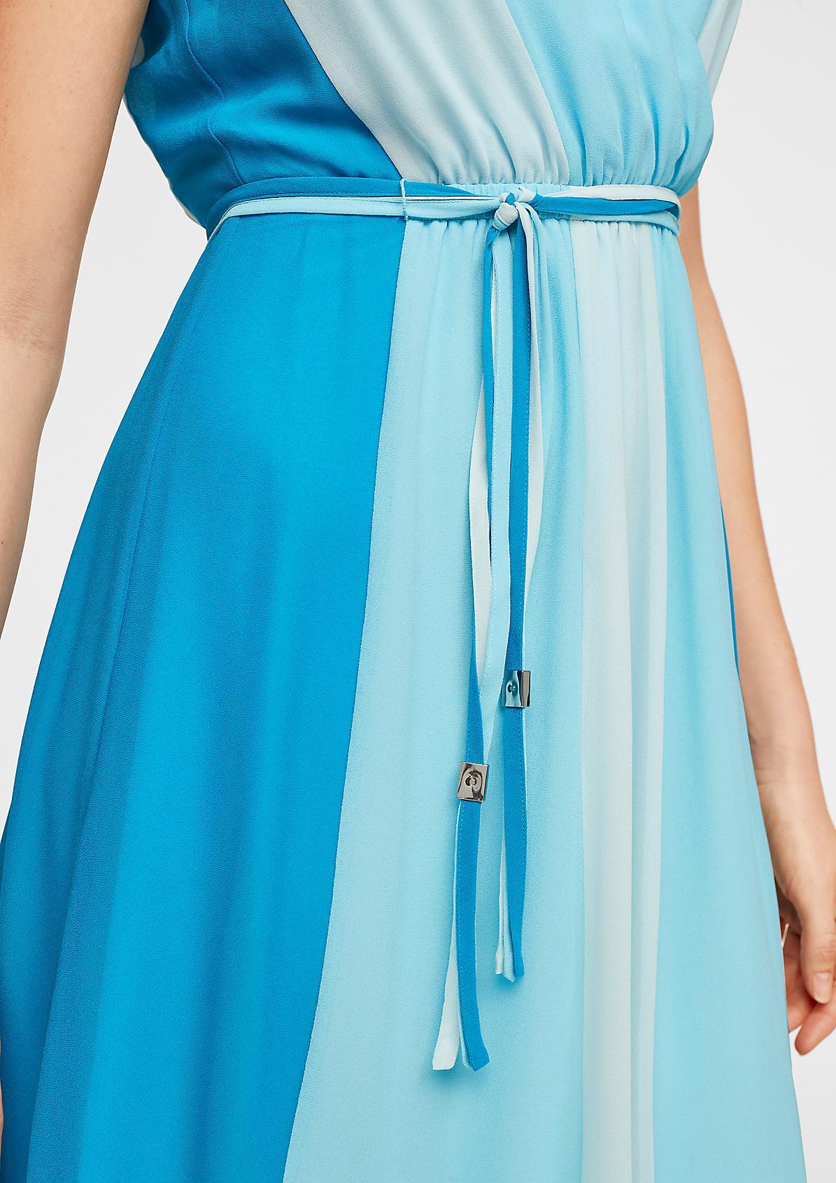 V-Neck-Kleid mit Farbverlauf