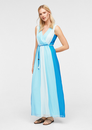 Maxi dress with colour graduation from comma