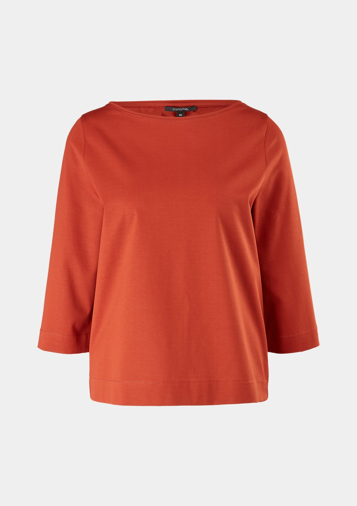 Shirt mit U-Boot-Ausschnitt