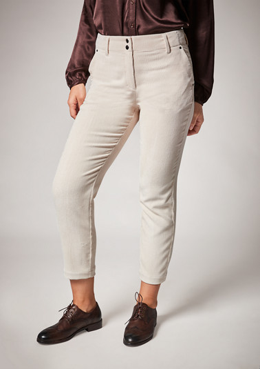 Regular: Chinos made of corduroy from comma