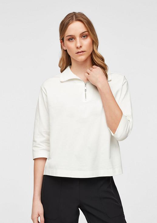 3/4-Arm-Shirt mit High Neck