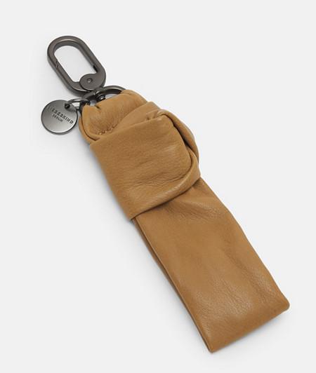 Schlüsselanhänger aus geknotetem Leder