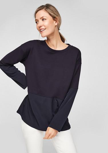 Lockeres Shirt im Fabricmix
