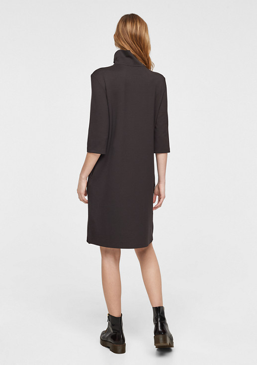 Jersey dress with a stand-up collar from comma