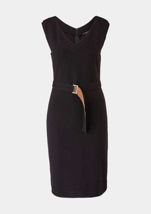 Elegantes Kleid mit Webstruktur