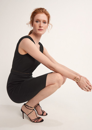 Elegant dress with a woven texture from comma