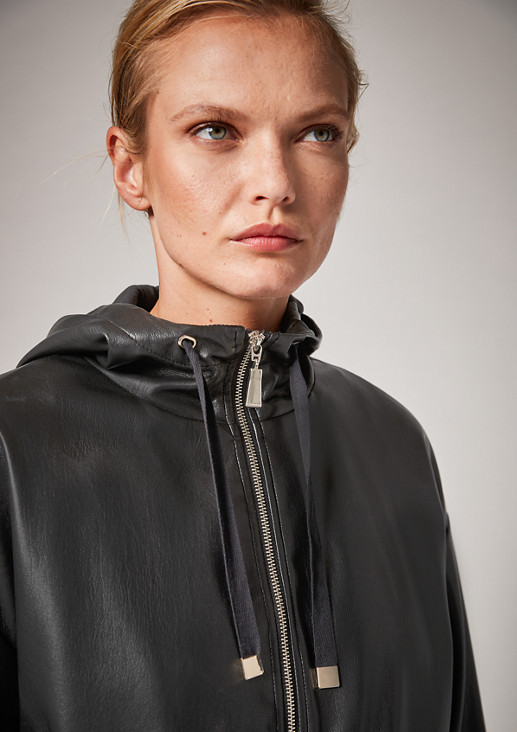 Jacke aus Kunstleder