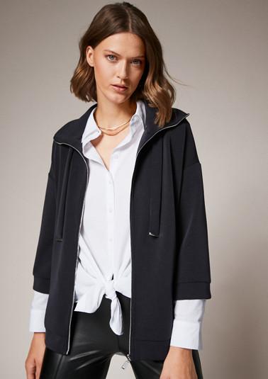 Jacke aus Scuba-Jersey