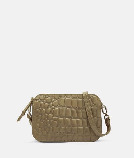 Kleine Crossbody Bag im Kroko-Look