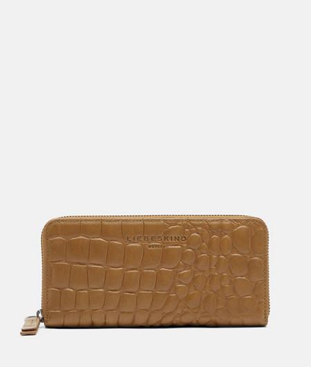 Grand portefeuille orné d'une estampe crocodile de liebeskind
