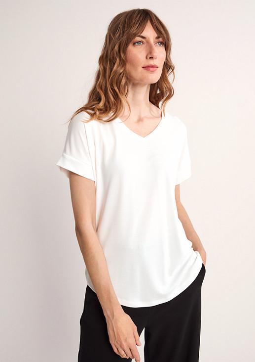 Shirt aus softem Modalmix