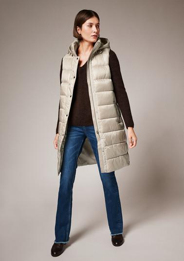 Hooded nylon body warmer from comma