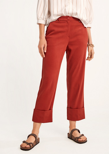Regular: trousers with turn-ups from comma